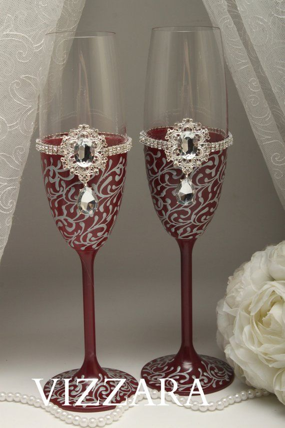 6 Acrylic Plastic Champagne Flutes Modern Striped Effect for Parties/&Weddings