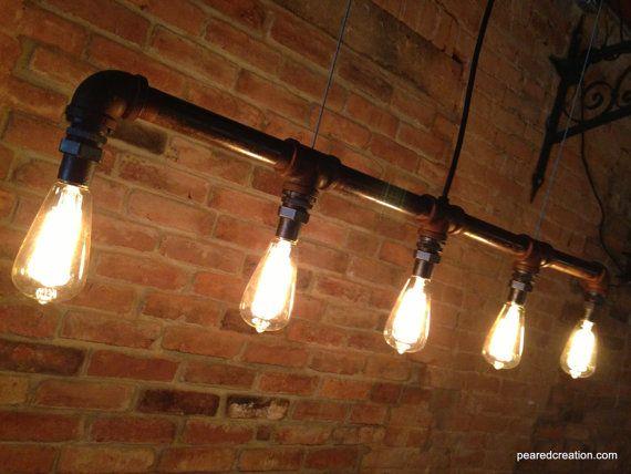 Industrial Edison Bulb Lamp   Chandelier   Steampunk Furniture   Industrial  Lighting