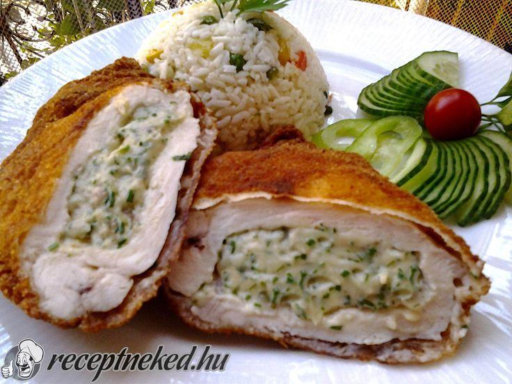 Zöldfűszeres, krémsajtos csirkemell