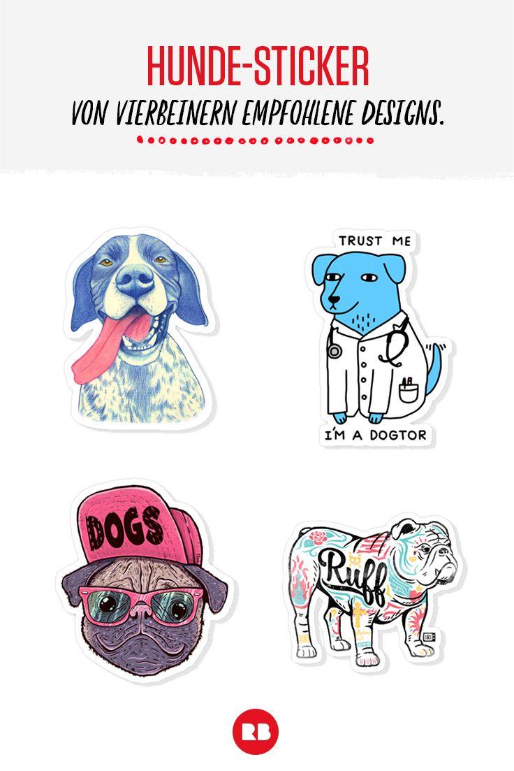 Du liebst Hunde? Und Sticker? Redbubble hat alles für dich, was du brauchst!