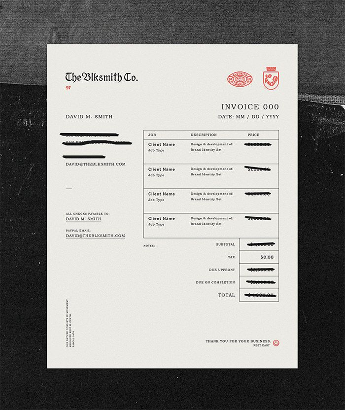 30 best Invoice   receipt images on Pinterest Invoice design - printed invoices