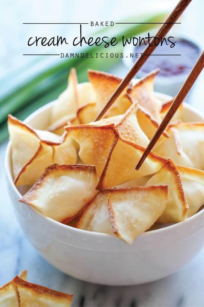 Raviolis de fromage à la crème au four - personne ne pourrait jamais croire que ces wontons, crémeux nettes sont effectivement cuites, pas frits!  Et ils sont si faciles à faire!