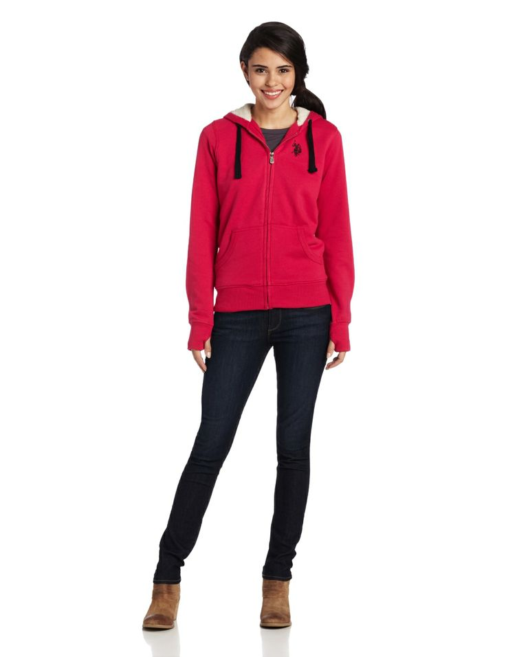 U.S. Polo Assn. Women's Classic Fleece Jacket with Hood           ($29.99) http://www.amazon.com/exec/obidos/ASIN/B00DNSNRHY/hpb2-20/ASIN/B00DNSNRHY Fits great and keeps me very warm. - The Jacket quality was great, but the size seemed small for 'Large' jacket. - I really recommend it for cold and rainy days because pretty heated.