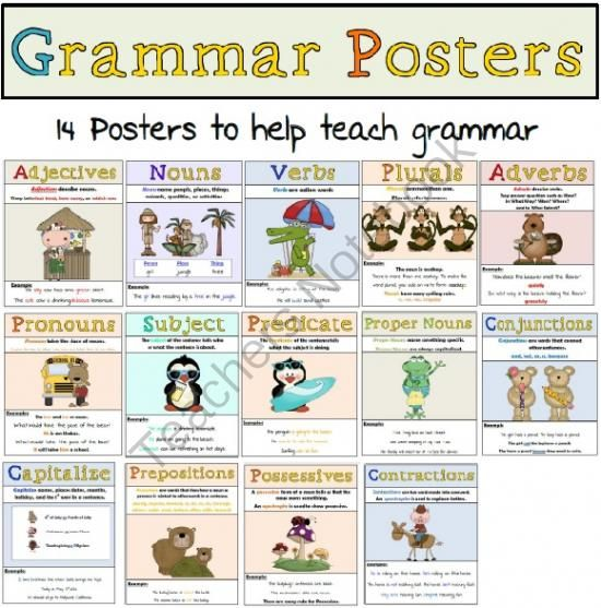 14 posters to help you teach grammar $