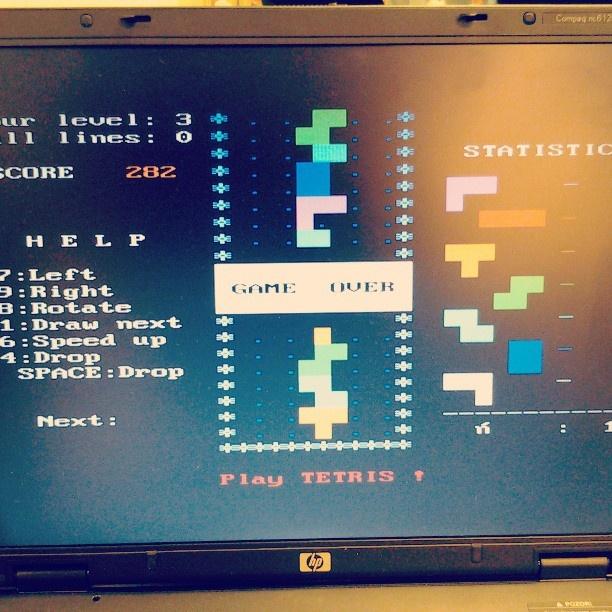 Predstavljanje računalniške razstave preko zabave. / Let's have fun while learning about computers. Let's play tetris!  http://distilleryimage8.s3.amazonaws.com/a4c81b108afd11e2b06022000a9e289e_7.jpg