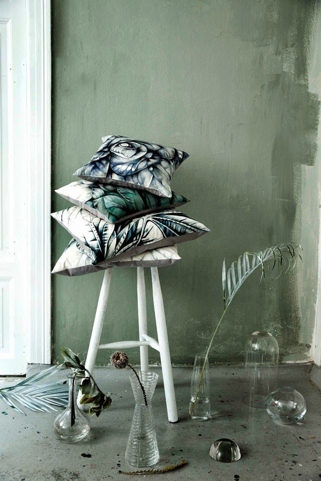 Botanical pillow collection by Sofie Børsting