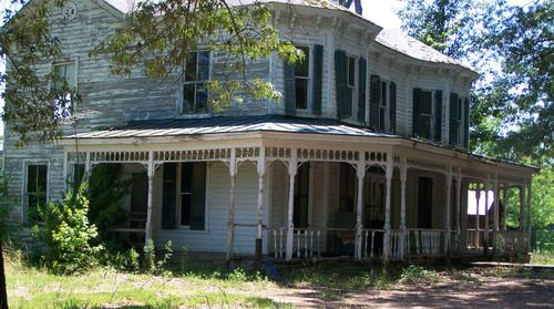 Haunted Queen Anne Victorian outside Cody,Virginia. The spirit of the spinster that lived here long ago still remains.