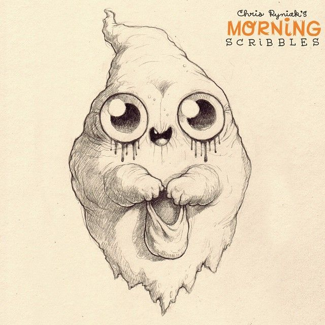 Goth ghost is super stoked that it's finally October! #morningscribbles #countdowntohalloween #halloween