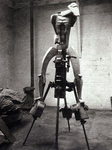Epstein's 1913 sculpture The Rock Drill in its original form. It is now lost.