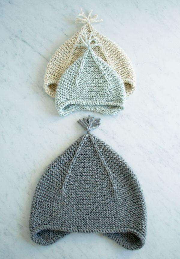 Lauras Loop: Garter Ear Flap Hat - the purl bee