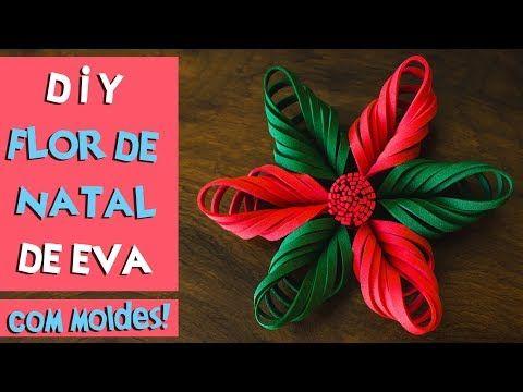 DIY: FLOR DE NATAL DE EVA / COMO FAZER FLOR DE NATAL COM EVA | BLOG CRIATIVO - YouTube
