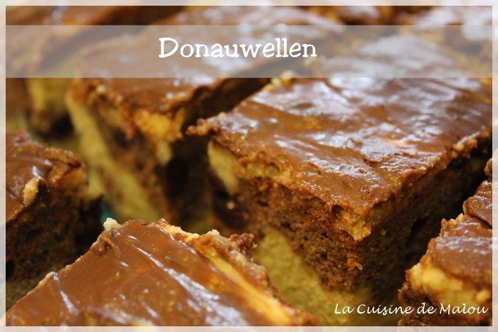 recette-allemande-donauwellen-gâteau-marbré-cerise