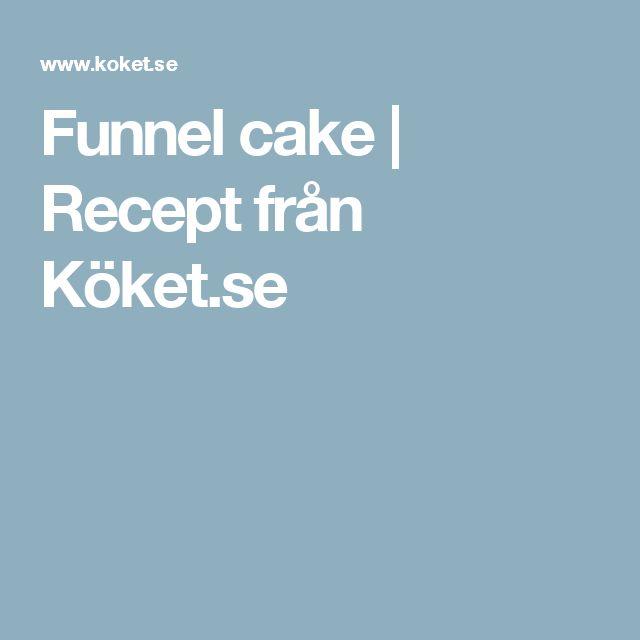 Funnel cake   Recept från Köket.se