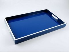 Blue and White Lacquer Breakfast Tray