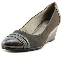 LifeStride Life Stride Juliana Women Open Toe Synthetic Gray Wedge Heel.