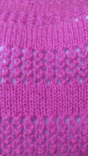 Back of jumper completed