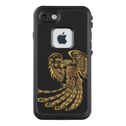 Golden Phoenix Rising LifeProof FRĒ iPhone 7 Case - golden gifts gold unique style cyo