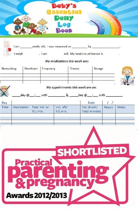 We are delighted to announce that Baby's Essenstial Daily Log Book was short listed for the PPP Awards 2012/2013