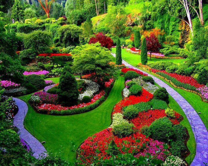 Buchart Garden Near Victoria Vancouver Island British Columbia Canada I Took My Two Oldest Children Here When They Were Young It Was Wonderful