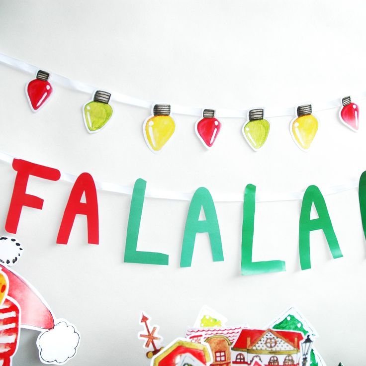 Playful Christmas paper banner
