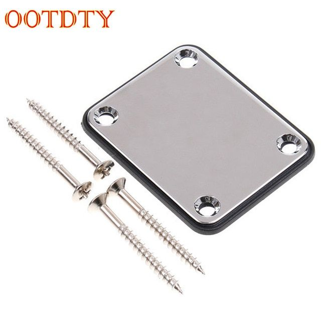 1 Set Chrome 6.35mm Guitar Output Jack Plate with Neck Plate for ...