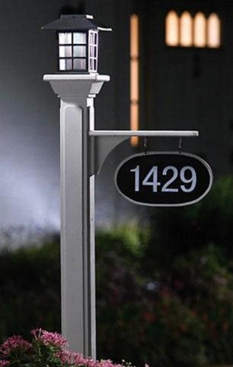 Lamp Post Hanging Address Plaques 1 Pinterest