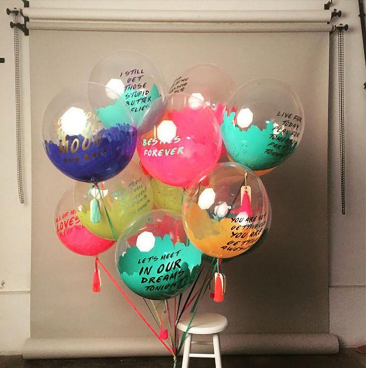 los decorativos globos gigantes de unelefante