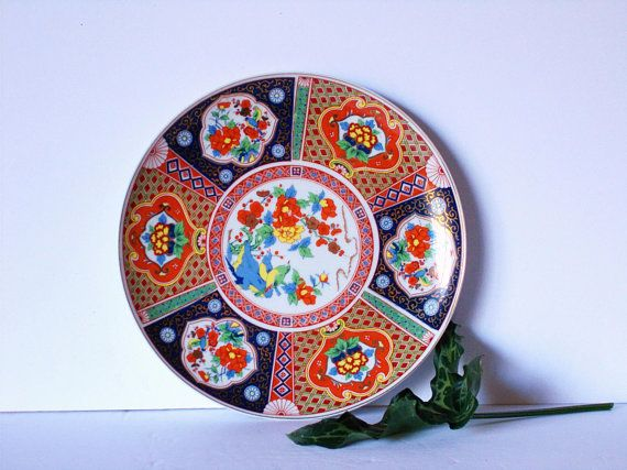 Chinoiserie Plate Vintage Decorative Plate Asian Plate Plate