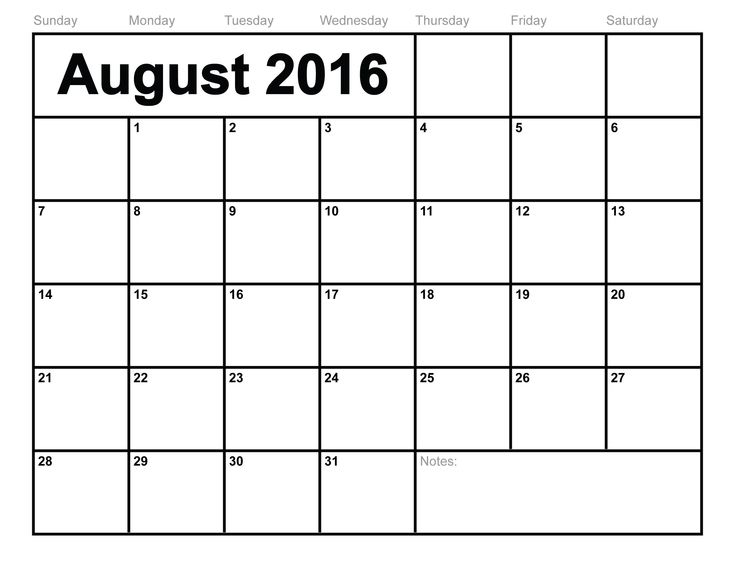 The 25+ best August 2016 printable calendar ideas on Pinterest - printable monthly calendar sample
