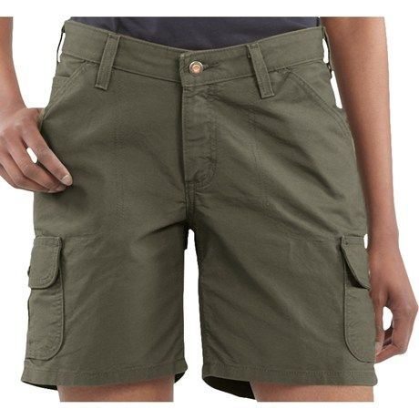 Carhartt Cargo Shorts - Canvas (For Women) in Light Olive