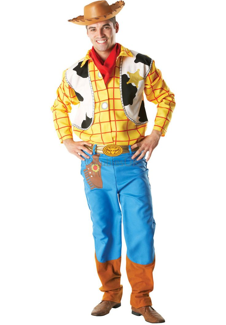 Adult Woody Costume, Toy Story Licensed Fancy Dress - Disney & Cartoon Costumes at Escapade
