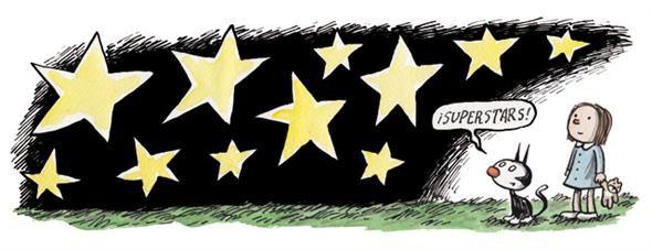 Enriqueta y Fellini by Liniers