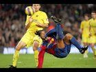 cool On this day in 2006/2007. Ronaldinho scored an overhead bicycle kick against Villareal.