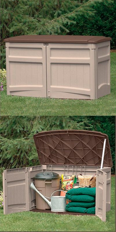Give your green thumb a workout—this stylish Suncast shed has space for all your gardening gear and more! #SuncastCorp