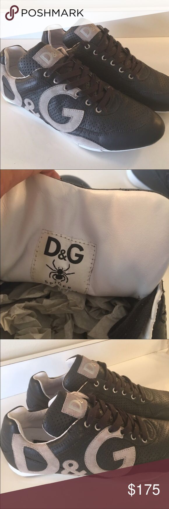 Dolce & Gabana 100% Authentic D&G men's sneakers 100% Authentic. Very fashionable and perfect for any outfit. Only wore them a couple times. Great condition as you can see from the pictures. They are a American size 10.5 Dolce & Gabbana Shoes Sneakers