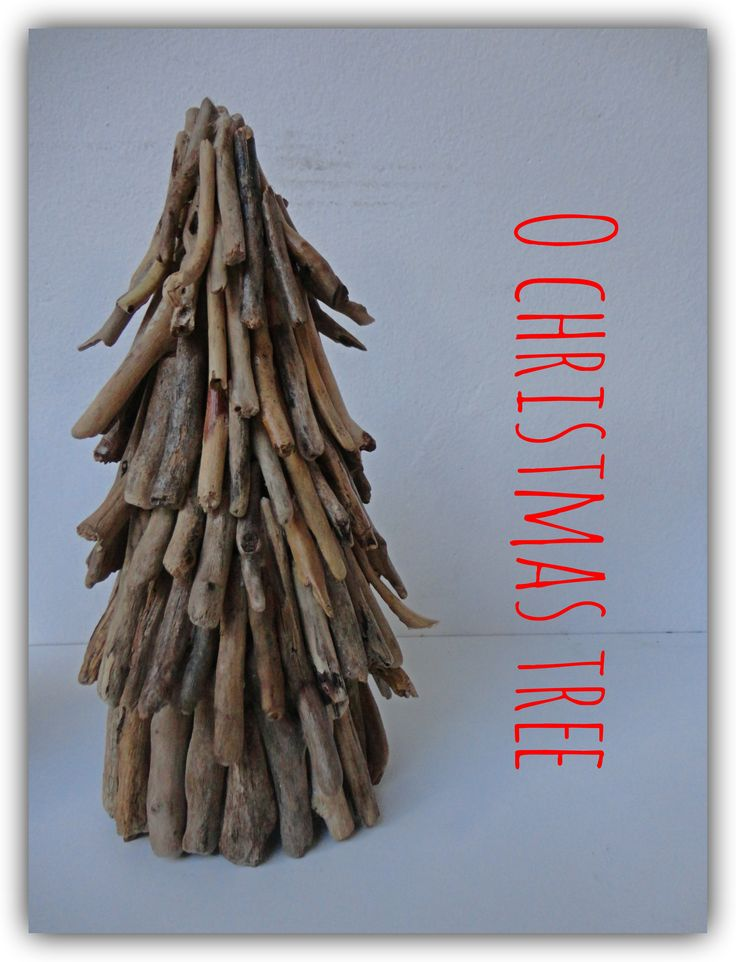 Driftwood christmas tree decoration.