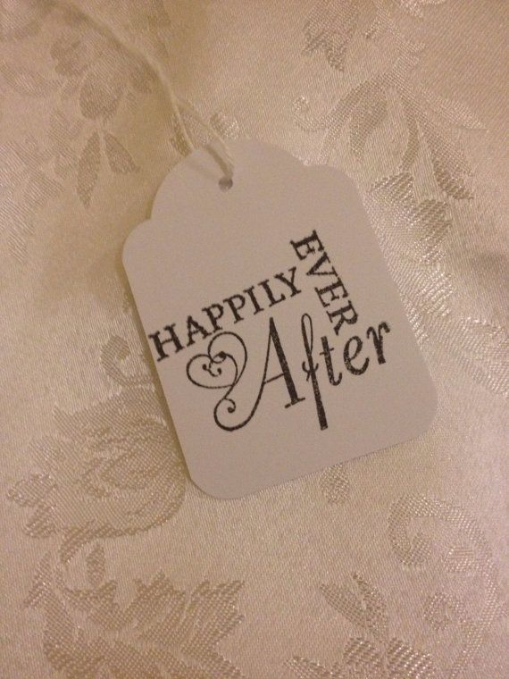 Hand Stamped Happily Ever After Tags  Wedding Event by TypeWright