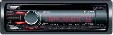Odtwarzacz CD i mp3 umożliwiający użycie aplikacji App Remote i podłączenie smartfona, odtwarzacza WALKMAN®, iPoda lub telefonu iPhone przez tylne gniazdo USB lub łącze Bluetooth®.