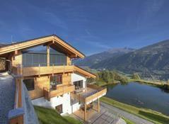 View into the Pinzgau valley from Alpenchalet am Wildkogel   Bramberg am Wildkogel   Austria