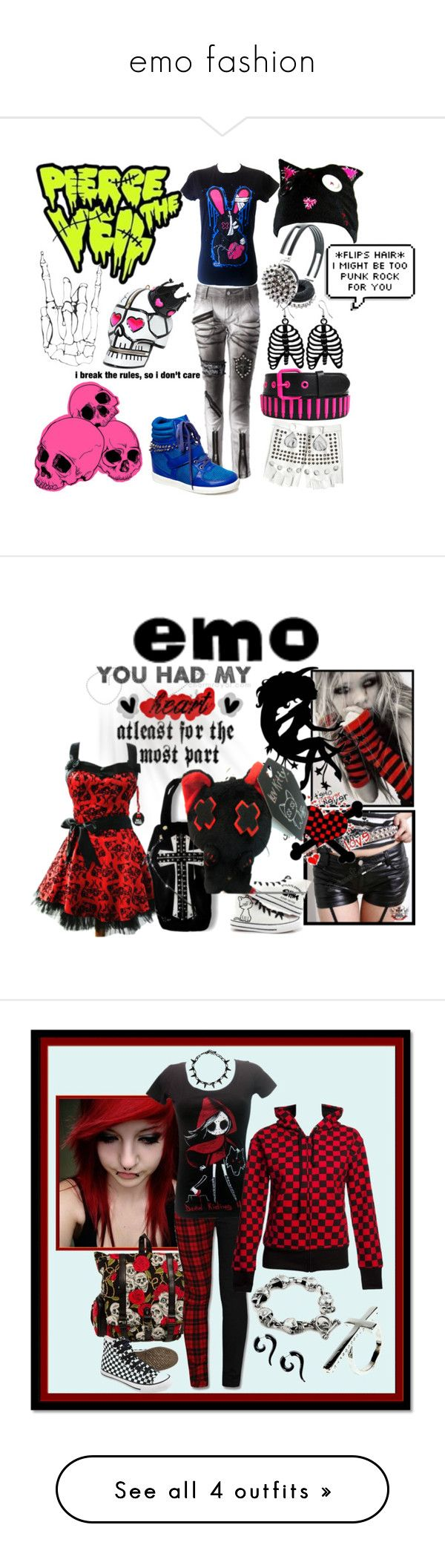 """emo fashion"" by anna-garrett-1 ❤ liked on Polyvore featuring Manish Arora, E.vil, Friis & Company, claire's, women's clothing, women, female, woman, misses and juniors"