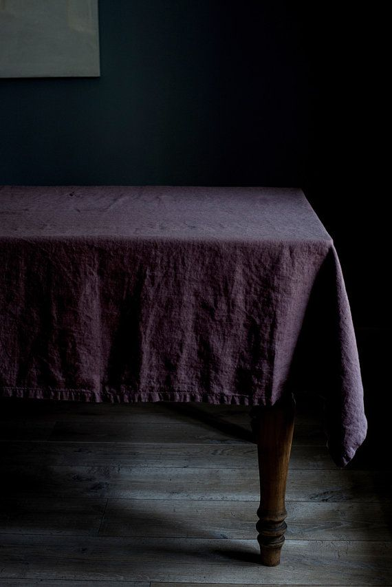 Ashes of Roses Stone Washed Linen Tablecloth