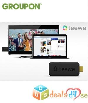 Teewe 2 HDMI Media Streaming Player with Freebies @ Rs.1,549/-