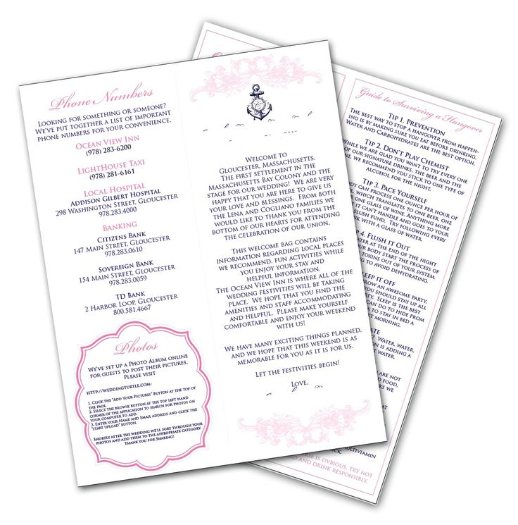 Hotel Wedding Welcome Bag Ideas Welcome Letters For