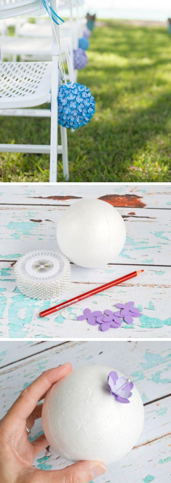 paper flower pomander DIY spring wedding decoration ideas