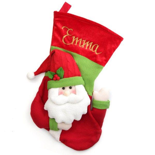 Personalised Stocking   3D Santa Christmas Stocking