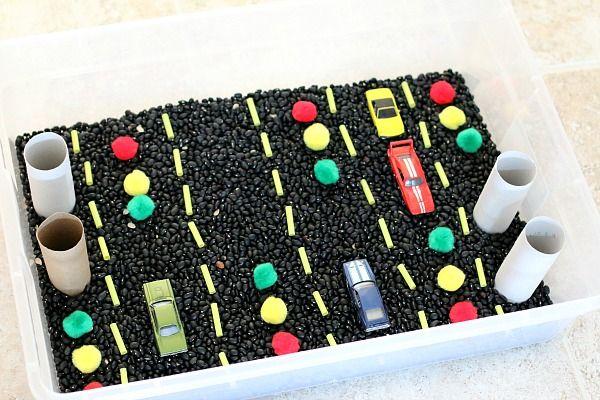 Car Themed Sensory Bin