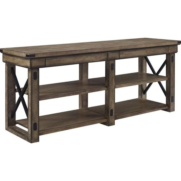 """Lowest price online on all Altra Furniture Wildwood 65"""" TV Stand in Rustic Gray…"""