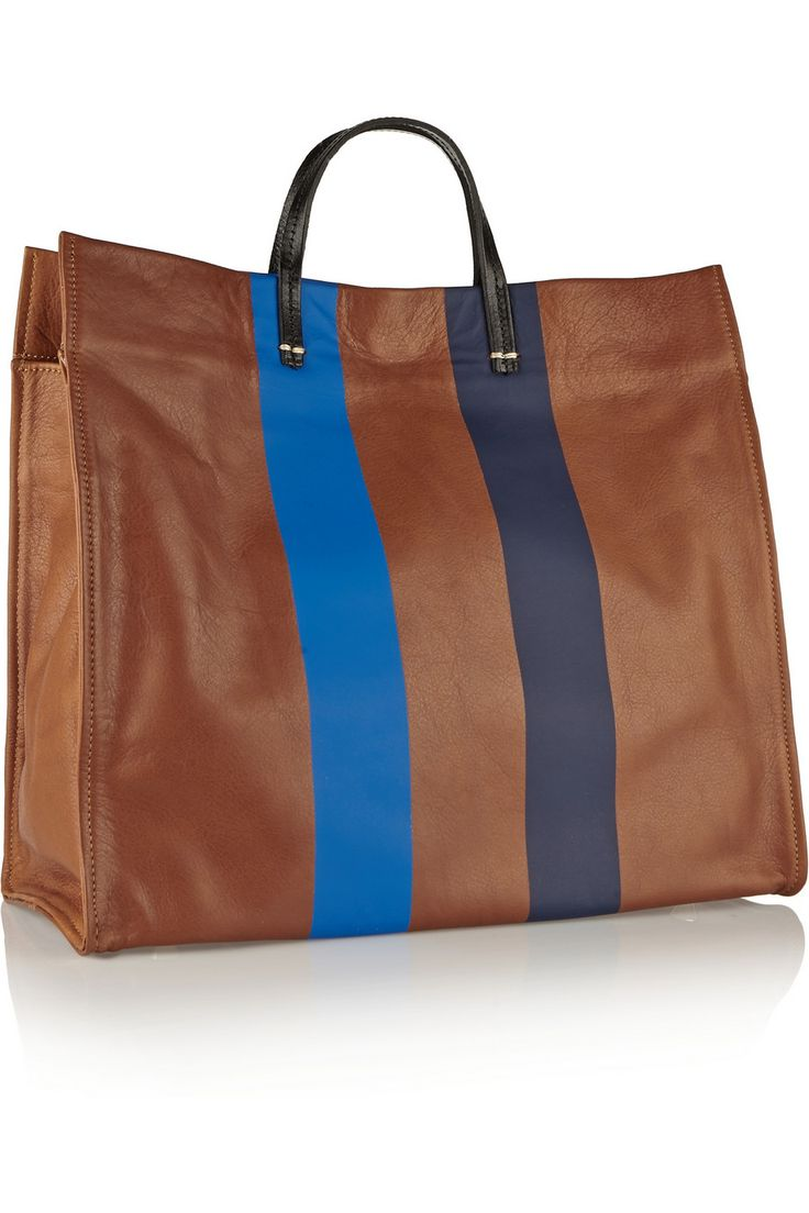 Clare V|Simple coated-leather tote|NET-A-PORTER.COM