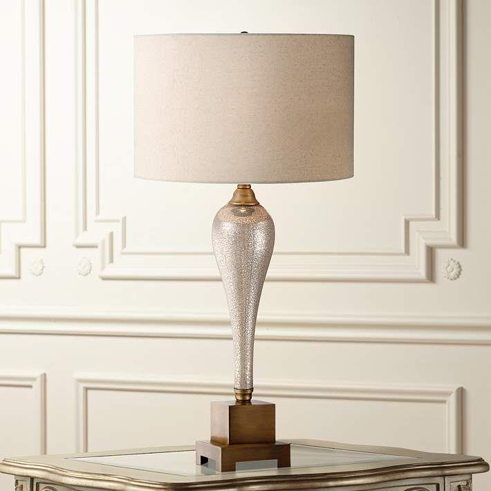 Gigi Mercury Glass Table Lamp - #3H030 | Lamps Plus