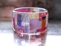 petal patchwork ring